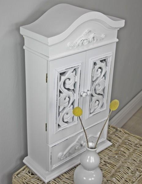 wandschrank schrank antik wei holz neu wandregal landhaus rosali schmuckschrank ebay. Black Bedroom Furniture Sets. Home Design Ideas