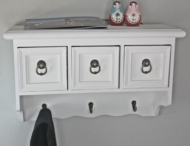 wandregal wandgarderobe antik wei holz landhaus wandschrank regal garderobe ebay. Black Bedroom Furniture Sets. Home Design Ideas