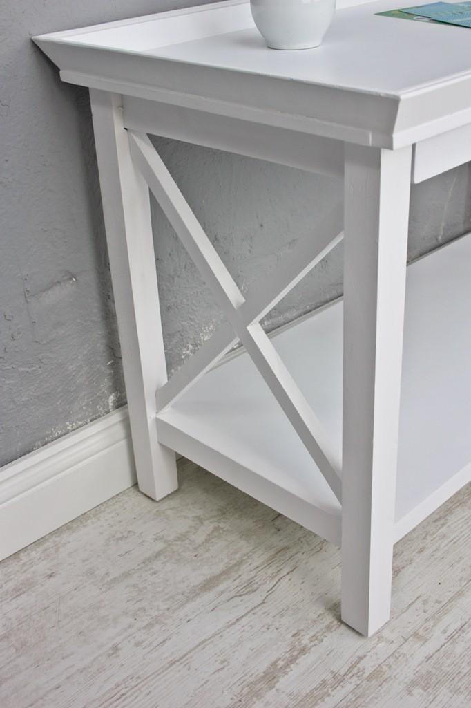 Couchtisch Tisch weiß antik Holz 80x40cm Landhaus Tisch Country NEU ...