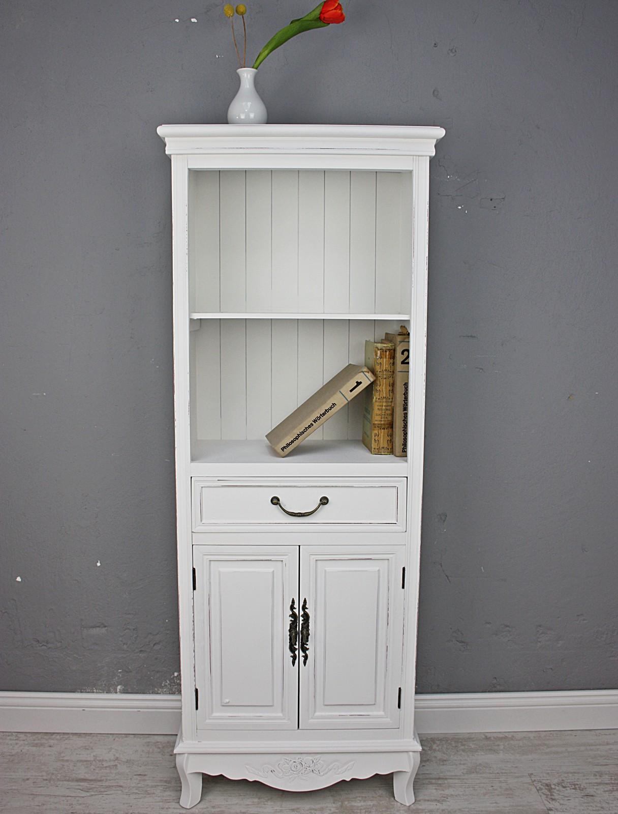 k chenschrank schrank wei antik landhaus holz tellerregal regal k chenregal ebay. Black Bedroom Furniture Sets. Home Design Ideas