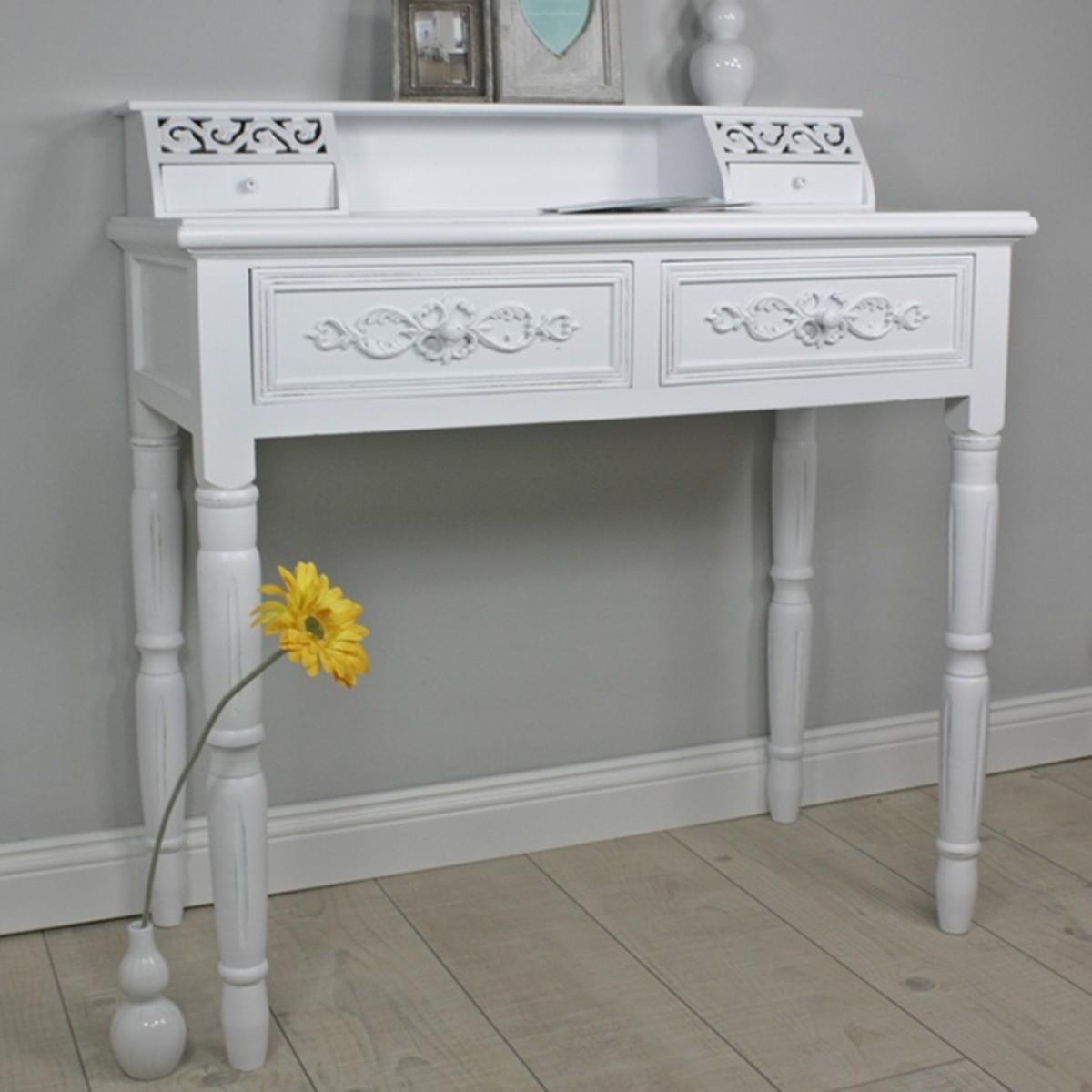 sekret r antik wei landhaus anrichte tisch konsole schreibtisch schminktisch. Black Bedroom Furniture Sets. Home Design Ideas