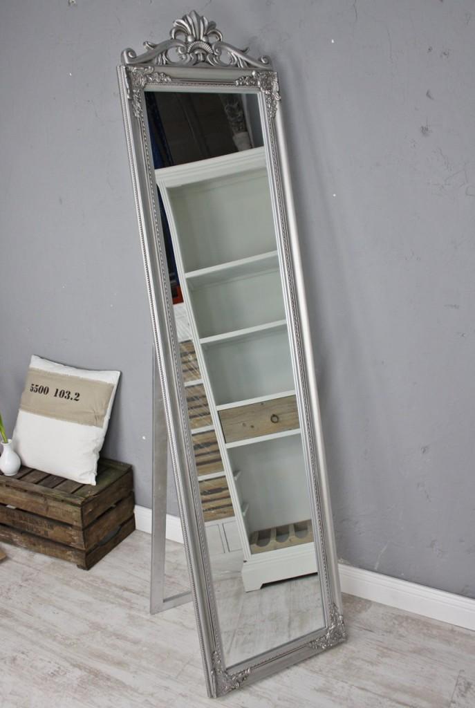 standspiegel gro 180 x 45 cm silber barock spiegel antik. Black Bedroom Furniture Sets. Home Design Ideas