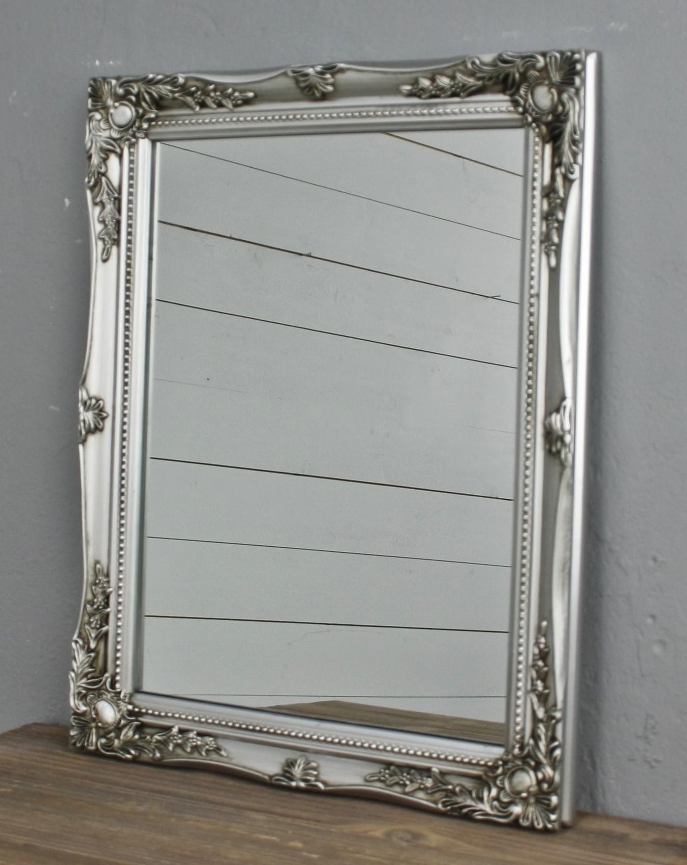spiegel wandspiegel silber barock holz badspiegel landhaus. Black Bedroom Furniture Sets. Home Design Ideas