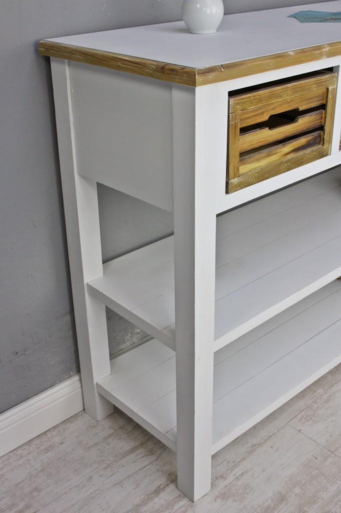 anrichte konsole sideboard wei braun antik landhaus k chentisch neu mdf holz ebay. Black Bedroom Furniture Sets. Home Design Ideas