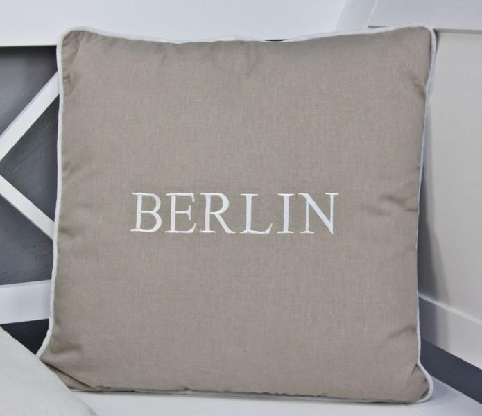 kissen 45x45cm berlin beige braun sitzkisssen f llung polsterkissen dekokissen ebay. Black Bedroom Furniture Sets. Home Design Ideas
