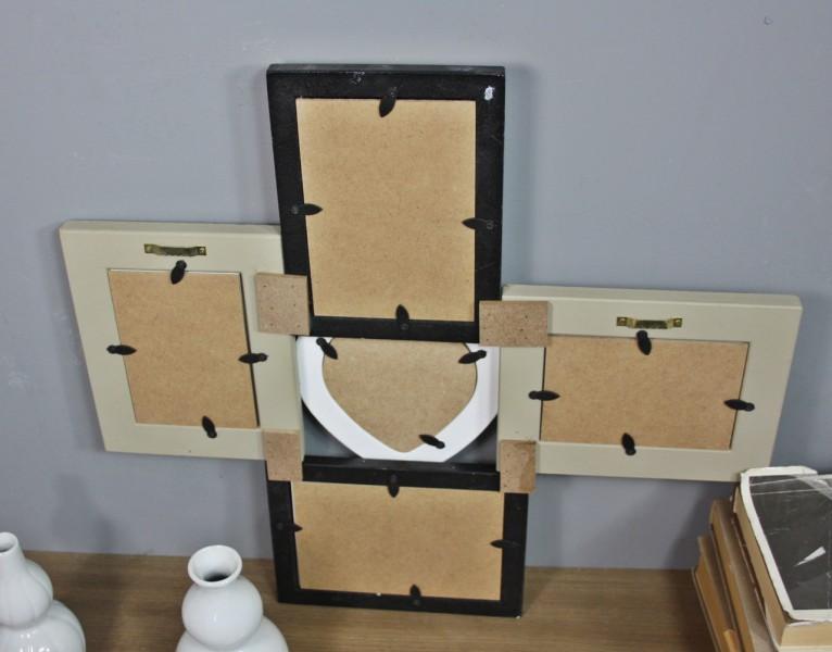 bilderrahmen collage braun wei schwarz bunt herz antik holz rahmen galerie used ebay. Black Bedroom Furniture Sets. Home Design Ideas