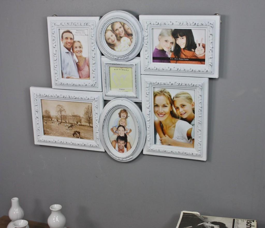 bilderrahmen collage wei antik holz wandrahmen rahmen landhaus fotorahmen used ebay. Black Bedroom Furniture Sets. Home Design Ideas