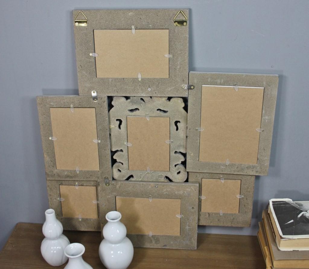 bilderrahmen collage braun antik holz fotogalerie rahmen. Black Bedroom Furniture Sets. Home Design Ideas
