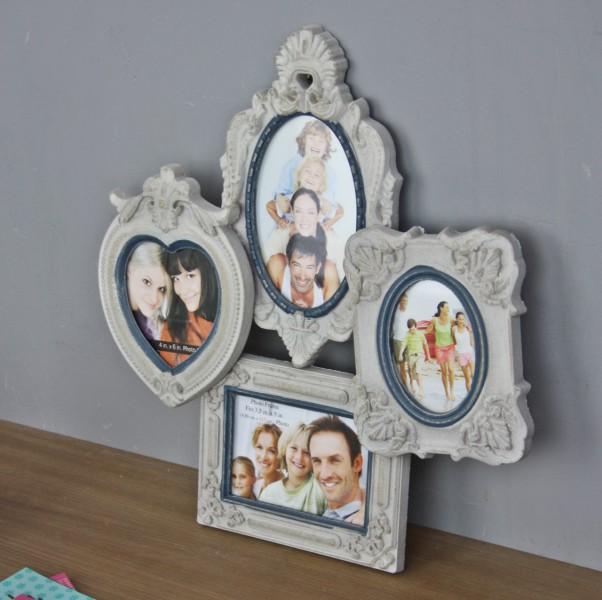 bilderrahmen beige herz rahmen wandrahmen fotorahmen barock shabby neu collage ebay. Black Bedroom Furniture Sets. Home Design Ideas