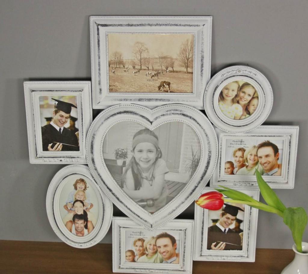 bilderrahmen wei antik holz rahmen wandrahmen fotorahmen collage herz shabby ebay. Black Bedroom Furniture Sets. Home Design Ideas