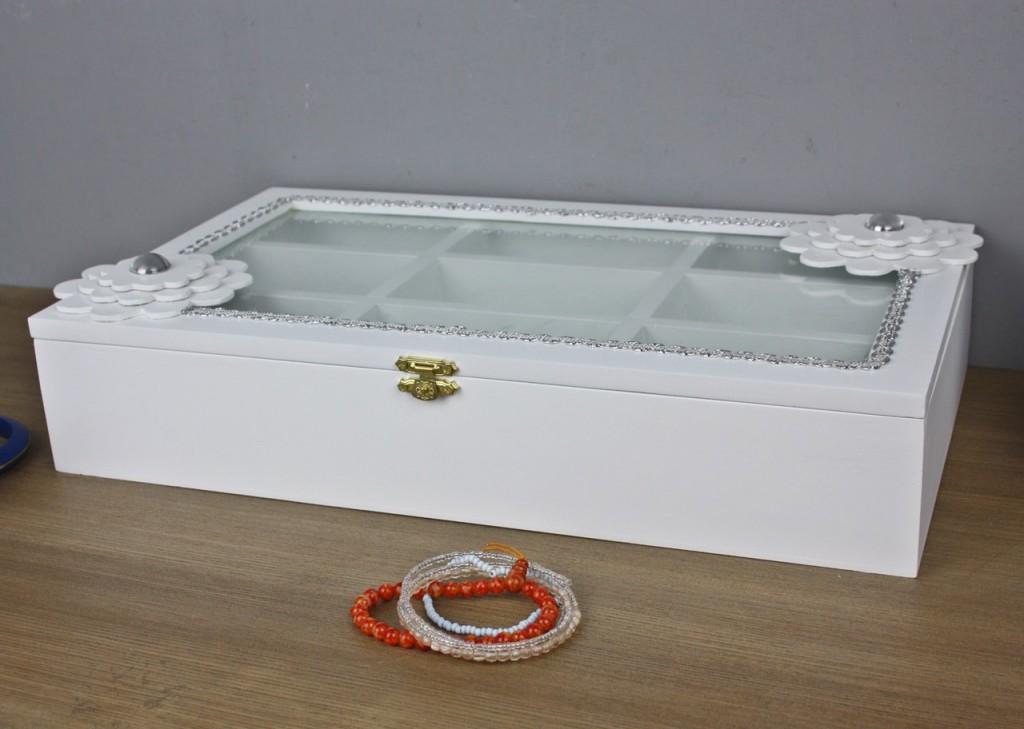 kiste holzkiste wei blume holz schmuckkiste deckel box holzbox glasdeckel glas ebay. Black Bedroom Furniture Sets. Home Design Ideas