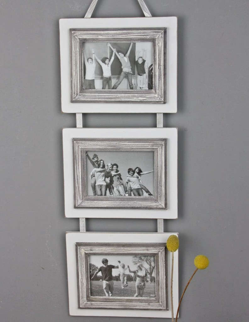 3er bilderrahmen wei antik shabby rahmen wandrahmen fotorahmen collage band ebay. Black Bedroom Furniture Sets. Home Design Ideas