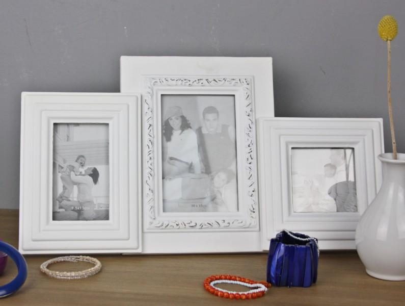 bilderrahmen wei antik shabby rahmen standrahmen fotorahmen barock collage ebay. Black Bedroom Furniture Sets. Home Design Ideas