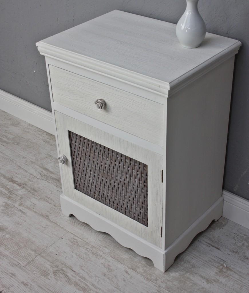 nachttisch rose wei beige maserung landhaus nachtschrank holz barock schublade ebay. Black Bedroom Furniture Sets. Home Design Ideas