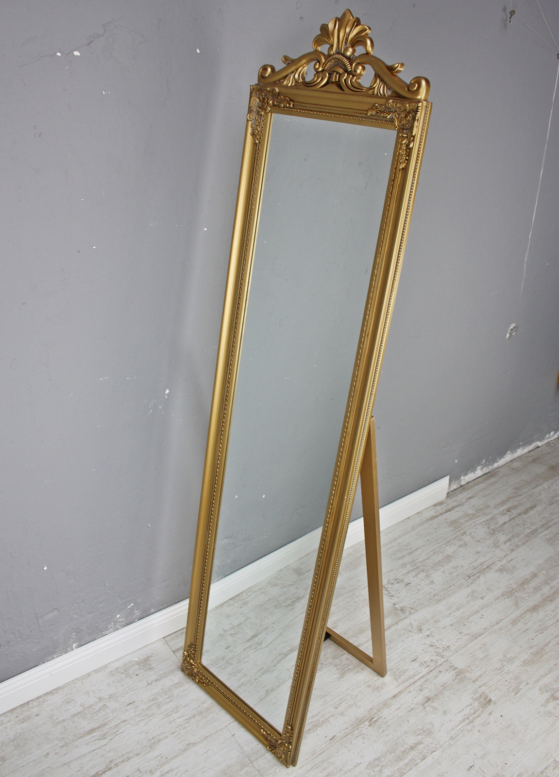 standspiegel gro 180 x 45 cm gold barock spiegel antik. Black Bedroom Furniture Sets. Home Design Ideas
