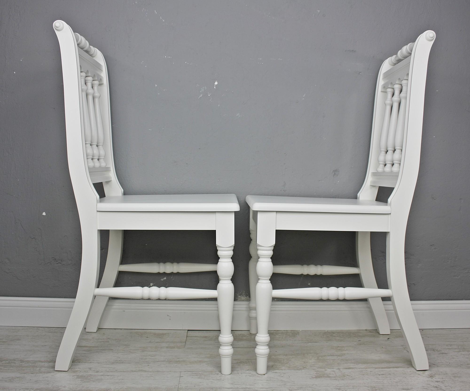 2x stuhl holzstuhl k chenstuhl otto massiv wei vollholz. Black Bedroom Furniture Sets. Home Design Ideas