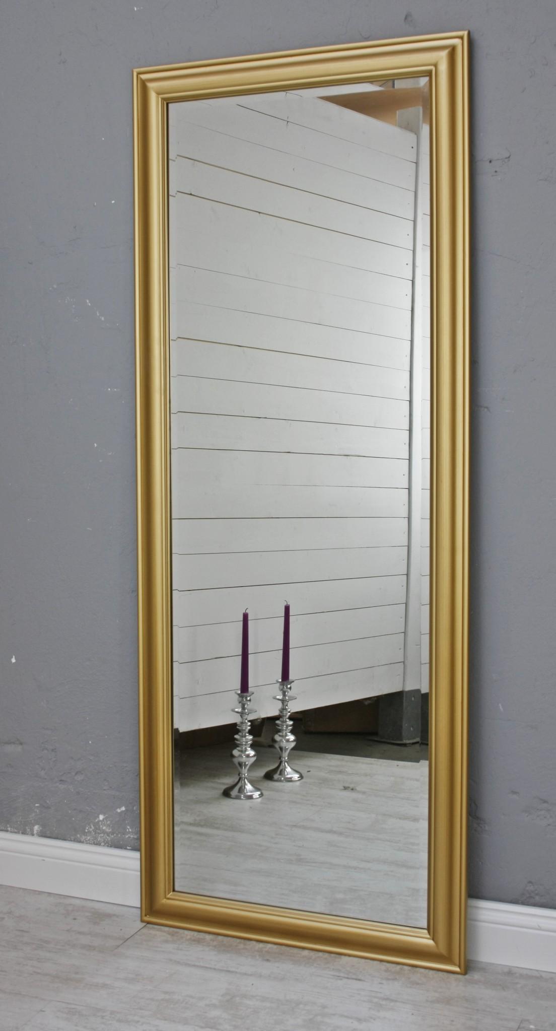 Spiegel 150 wandspiegel standspiegel gold holz landhaus holzrahmen badspiegel ebay - Badspiegel holzrahmen ...