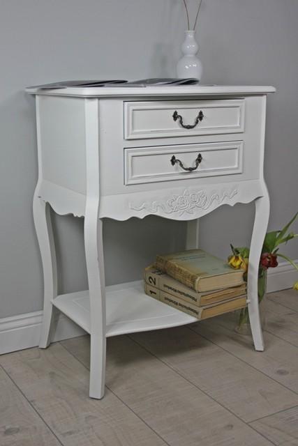 konsole beistelltisch wei antik landhaus telefontisch. Black Bedroom Furniture Sets. Home Design Ideas