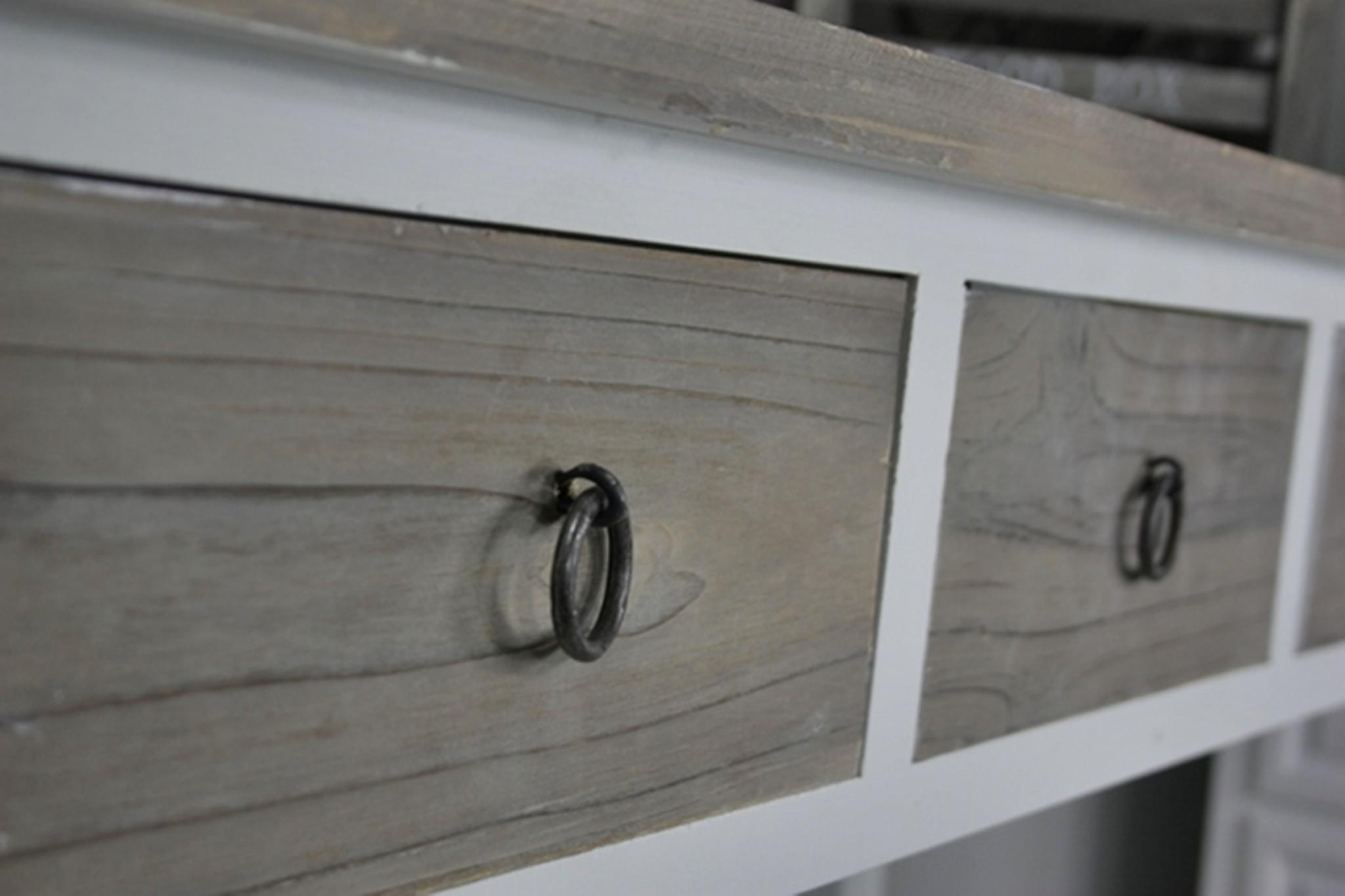 konsole anrichte sekret r wei holz braun landhaus shabby tisch massiv ebay. Black Bedroom Furniture Sets. Home Design Ideas