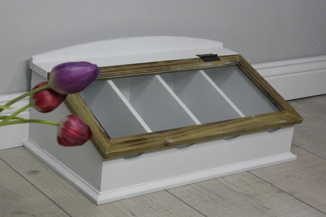 besteckkasten glasdeckel holz wei. Black Bedroom Furniture Sets. Home Design Ideas