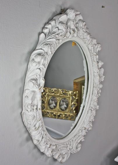 Spiegel oval barock wei wandspiegel - Wandspiegel oval ...
