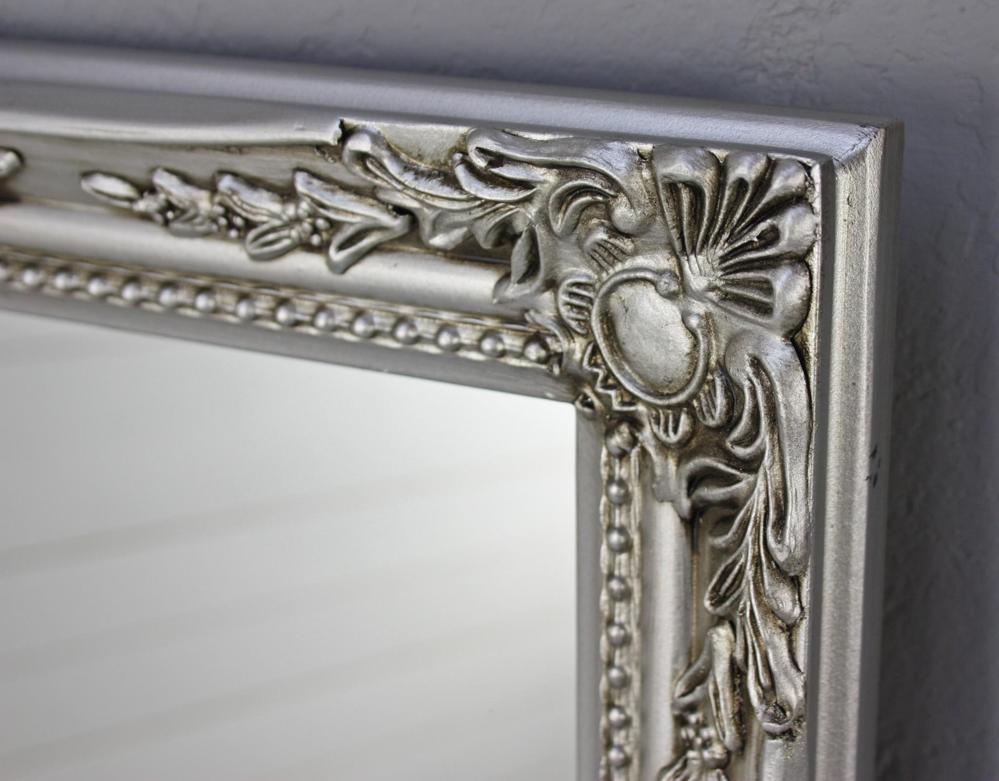 spiegel wandspiegel barock silber antik holz landhaus. Black Bedroom Furniture Sets. Home Design Ideas