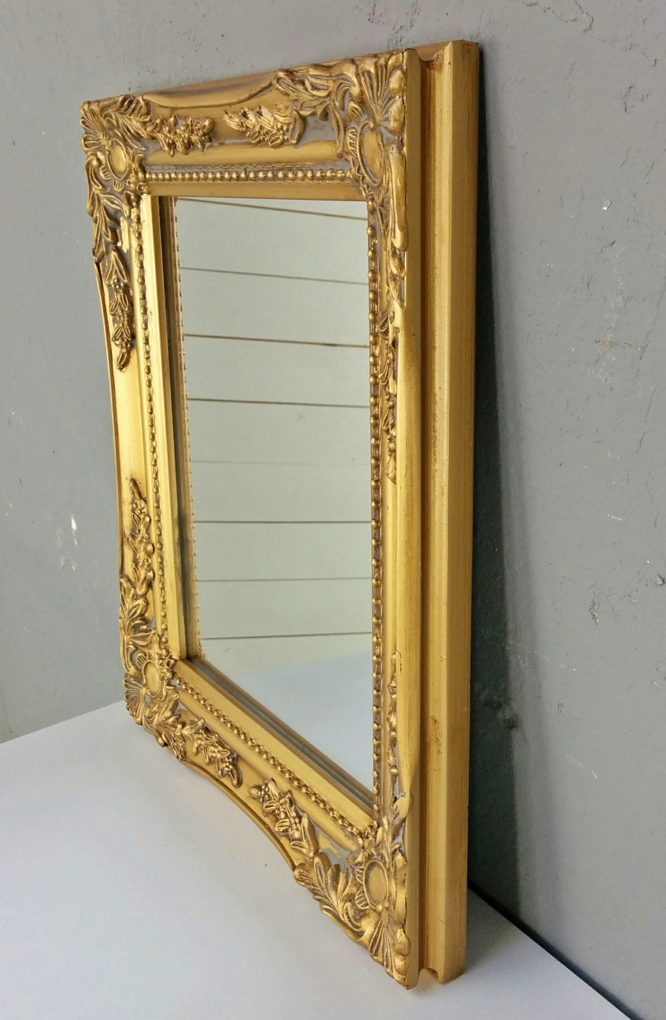 Spiegel wandspiegel barock gold antik holz landhaus for Wandspiegel barok