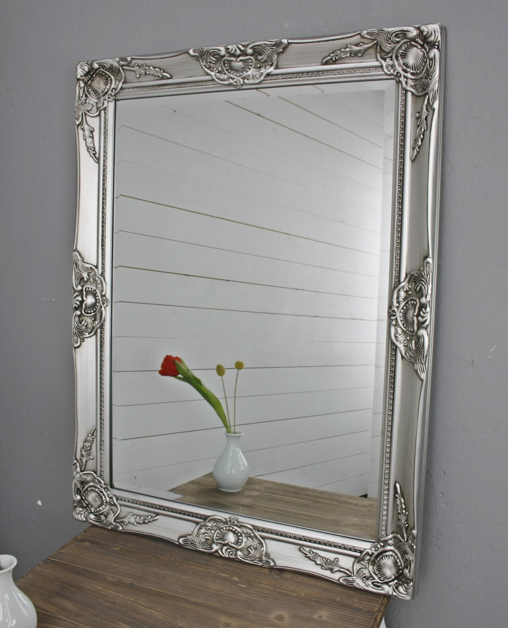 spiegel silber 82cm barock holz. Black Bedroom Furniture Sets. Home Design Ideas