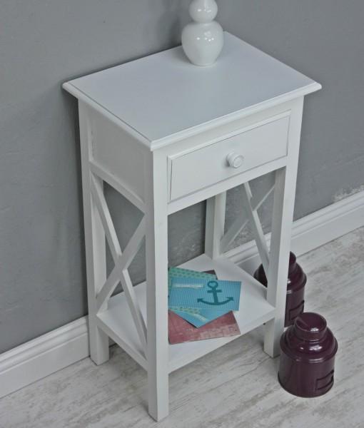 telefontisch antik wei holz beistelltisch. Black Bedroom Furniture Sets. Home Design Ideas