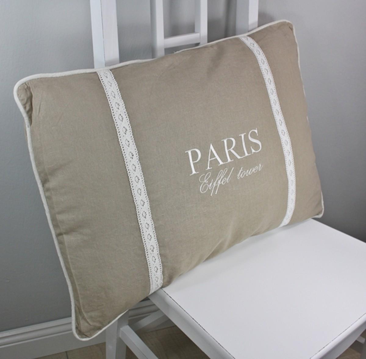 kissen paris beige braun 65cm f llung. Black Bedroom Furniture Sets. Home Design Ideas