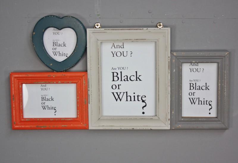 bilderrahmen bunt holz collage herz. Black Bedroom Furniture Sets. Home Design Ideas