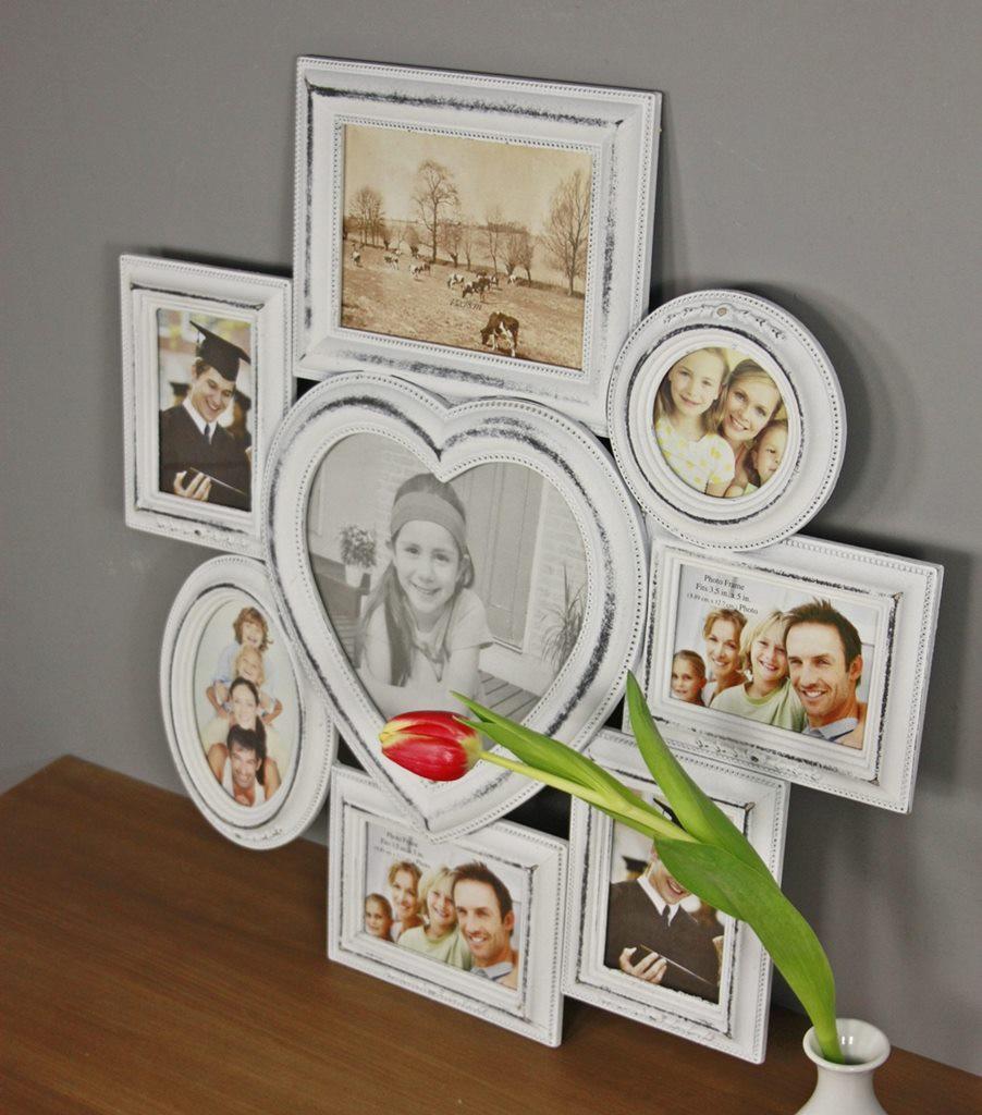 bilderrahmen wei collage herz. Black Bedroom Furniture Sets. Home Design Ideas