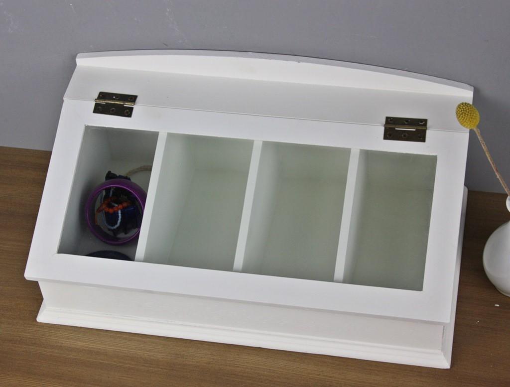 besteckkasten wei glasdeckel holz. Black Bedroom Furniture Sets. Home Design Ideas