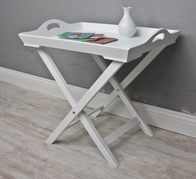 tablett tisch wei holz. Black Bedroom Furniture Sets. Home Design Ideas