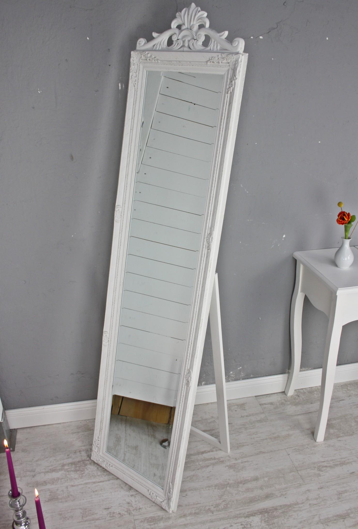 standspiegel wei antik mit krone. Black Bedroom Furniture Sets. Home Design Ideas