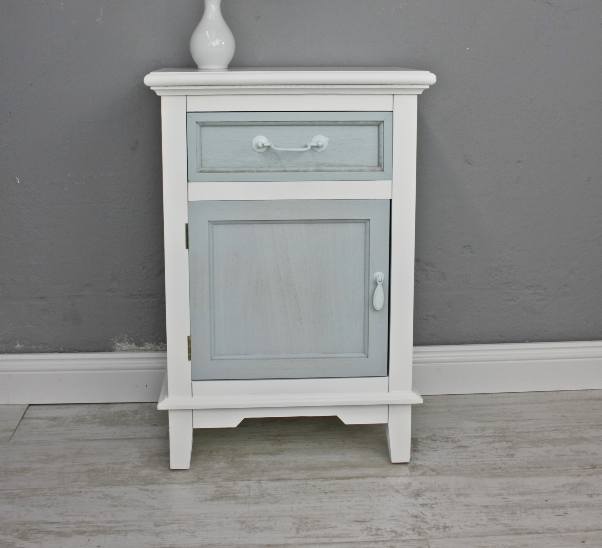 kommode schublade t r wei blau. Black Bedroom Furniture Sets. Home Design Ideas