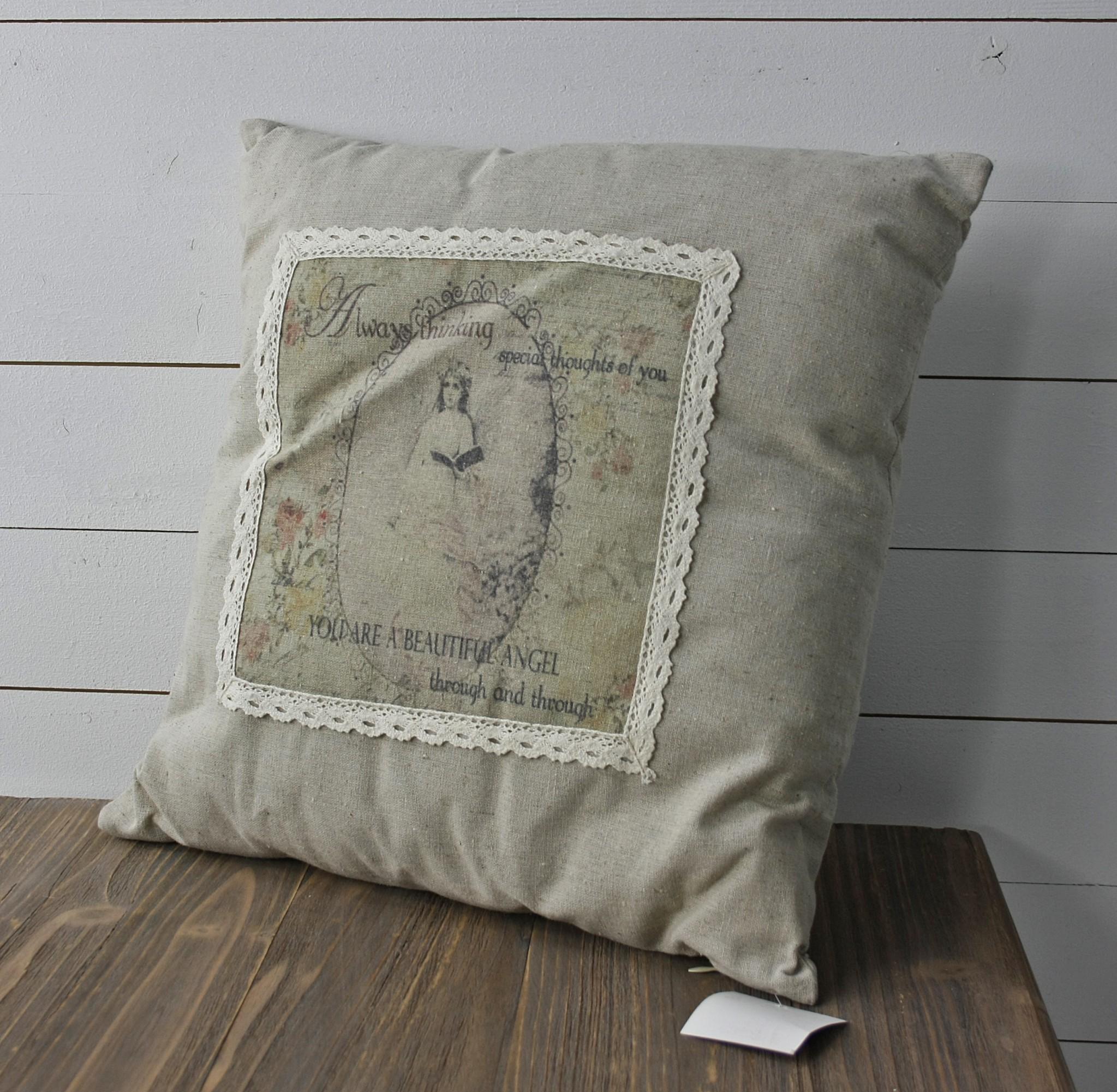postkarten motiv kissen 45cm beige. Black Bedroom Furniture Sets. Home Design Ideas