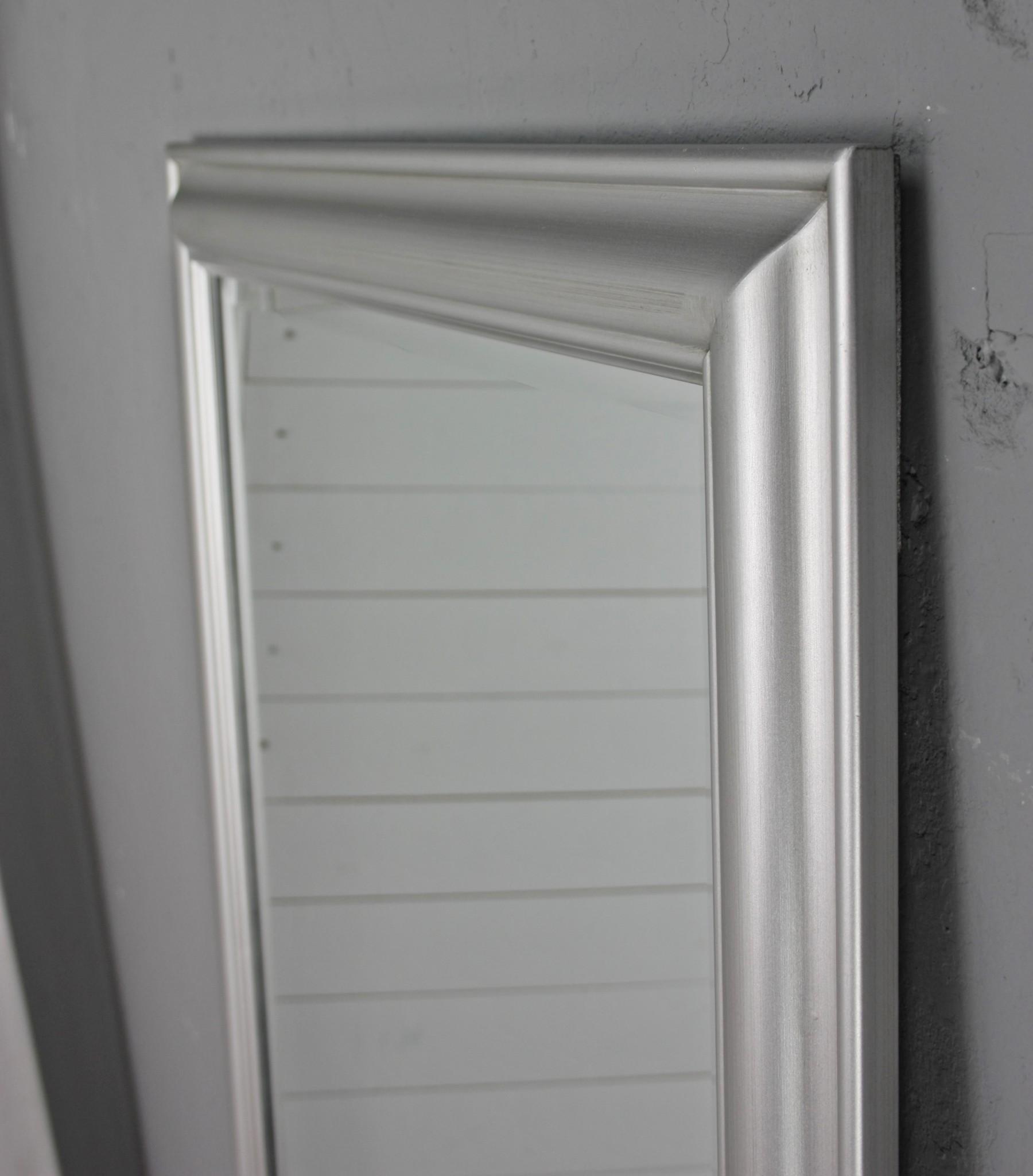 spiegel silber schlicht 150cm. Black Bedroom Furniture Sets. Home Design Ideas