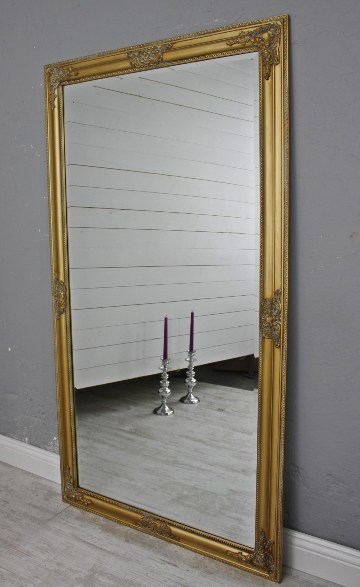 Spiegel gold 132cm barock holz - Badspiegel mit rahmen ...