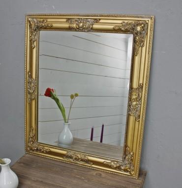 wandspiegel oval gold holz. Black Bedroom Furniture Sets. Home Design Ideas